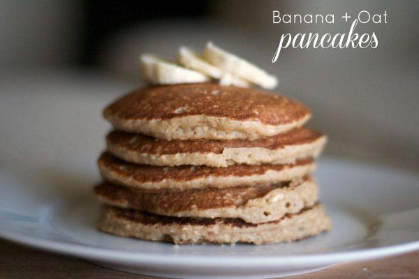banana oatmeal protein pancakes gluten free banana oat pancakes that ...
