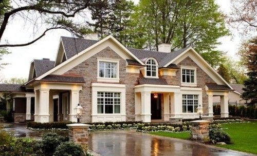 Stone classic american homes classic american for Classic american house