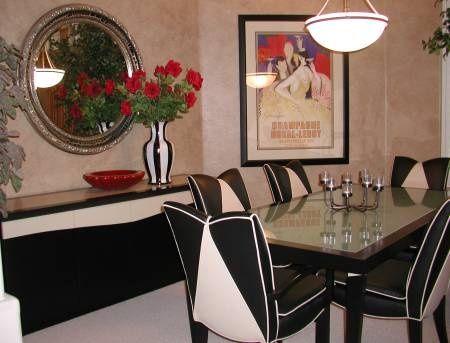 Art Deco Dining Room Home Decor Pinterest