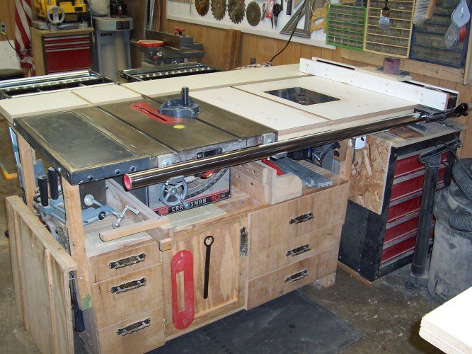 Pin By Theuglyvector On Custom Table Saw Base Cabinet Ideas Pintere