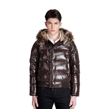 Moncler Rabbit Doudoune Brown Jacket Men Shop Online