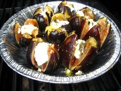 Grilled Figs Stuffed with Goat Cheese | YUM | Pinterest