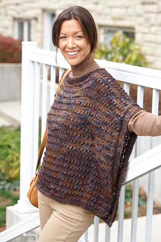 Knitting Pattern For Simple Poncho : Pin by Judith Baer on Knitting: Poncho Via Pinterest
