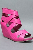 The Peia Sandal in Hot Pink Women's Shoes By DV Shoes by Dolce Vita