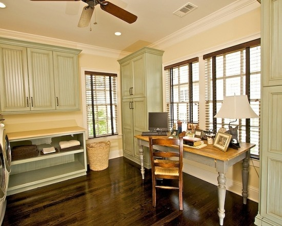 Nice combination laundry office ronnie pinterest for Laundry room office