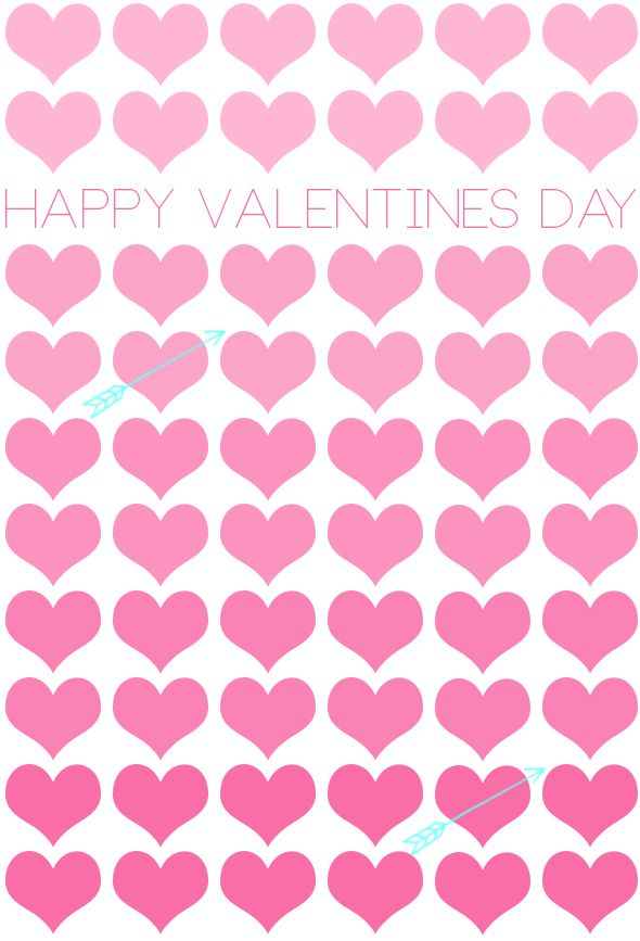 Happy Valentine's Day from For Chic Sake!  FREE DOWNLOAD