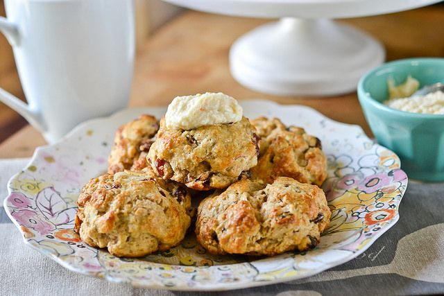 Cherry Almond Ricotta Drop Scones | Yummies: Meals & Sides | Pinterest