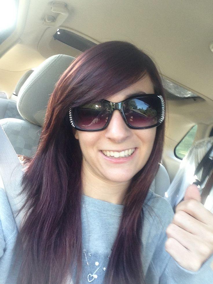 Dark Brown Hair with Purple Tint