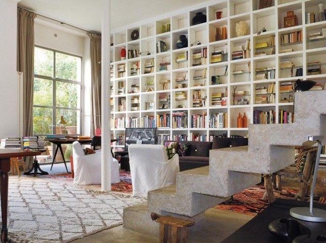 Bibliothèque / habillage mur sur mesure  Mobilier - Salon - Etagère ...