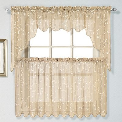 kohlsUnited Curtain Co. Savannah Swag Tier Kitchen Curtains