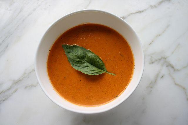 Roasted creamy tomato soup | Food.Soup | Pinterest