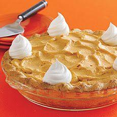 Pumpkin Mousse Pie VIII Recipe | PIES | Pinterest
