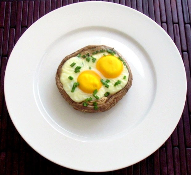Olive Oil Fried Eggs With A Crown Of Herbs Recipe — Dishmaps