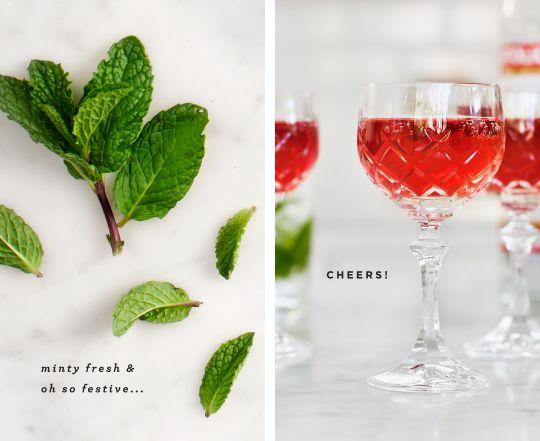 minty pomegranate spritzer / @Love and Lemons