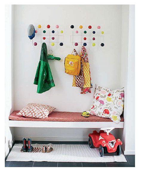 Entryway organization - for kids
