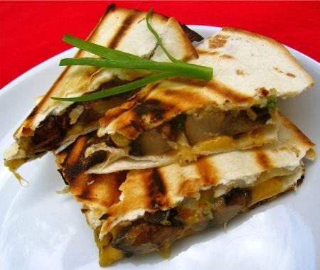 Grilled Portobello Quesadillas | Gimmie the Grub | Pinterest