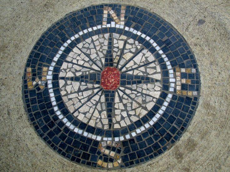Compass Cool For Patio Mosaic Ideas Pinterest