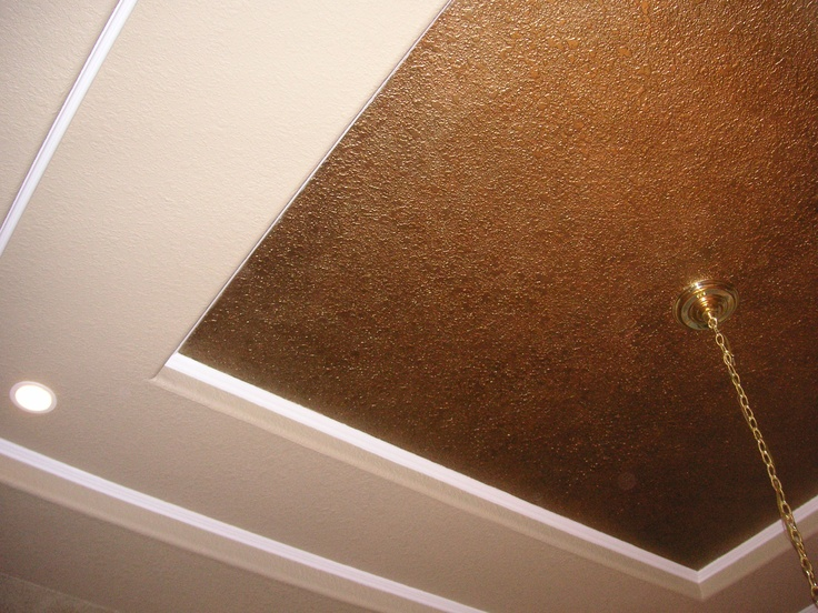 Metallic Wash On Tray Ceiling Playing With Paint