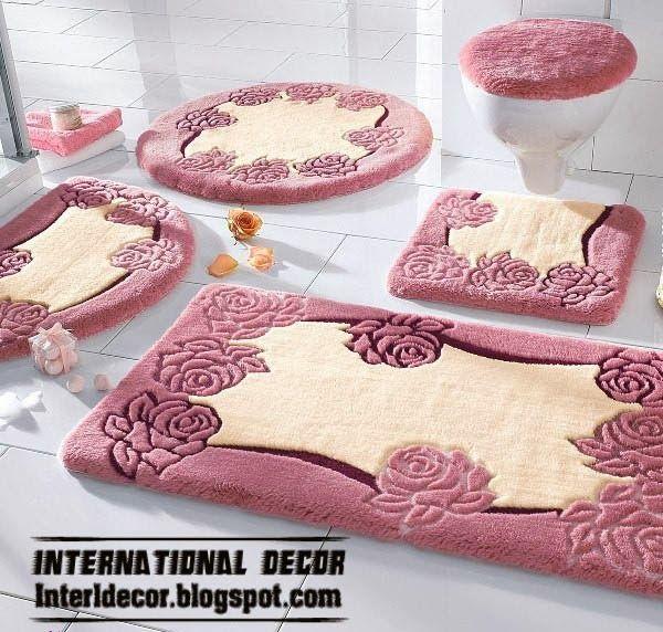 stylish pink bathroom rugs and rug sets carpets pinterest. Black Bedroom Furniture Sets. Home Design Ideas