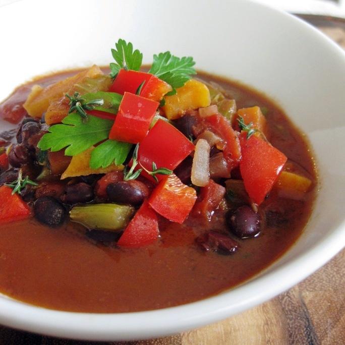 Black Bean, Tomato & Vegetable Soup | Soup | Pinterest