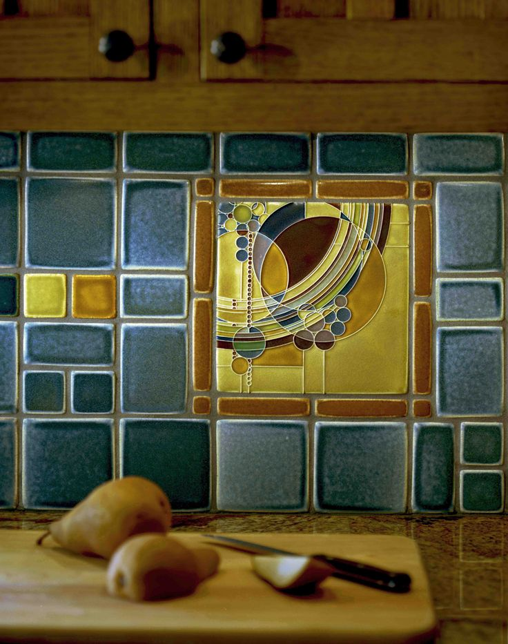 Motawi tile backsplash