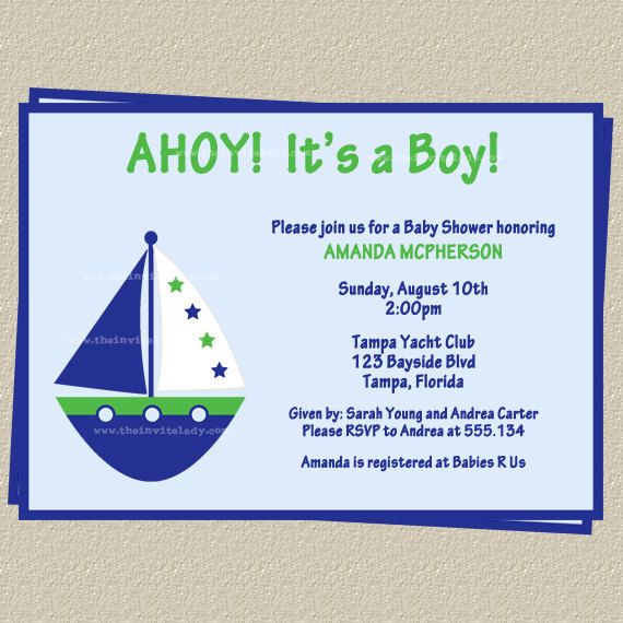 Ships Ahoy Its a Boy Baby Shower Invitations by TheInviteLadyShop, $8.50