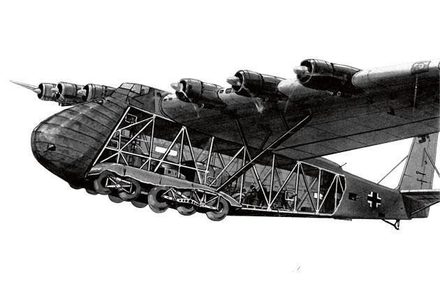 Cutaway view of a messerschmitt me 323 gigant transport