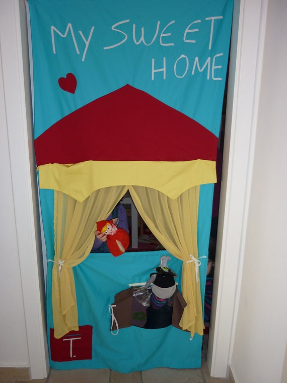 Doorway puppet theater | Crafts - Kids | Pinterest