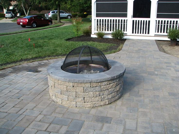 aquascape pondless and ephenry paver patio with pit