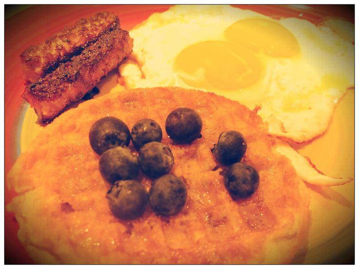 Best Gluten Free Breakfast #glutenfree Vans Blueberry Waffles