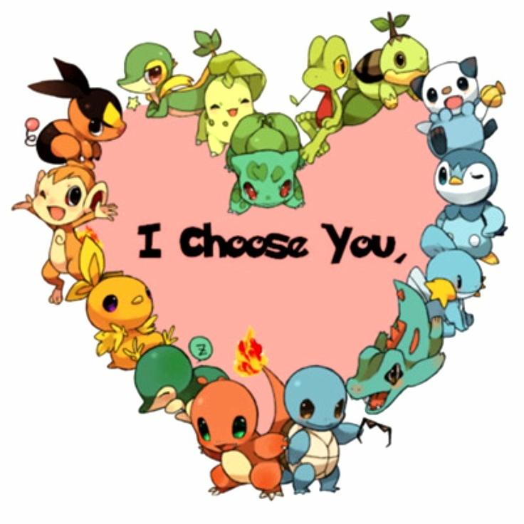I Choose U Pocket Monsters Pinterest