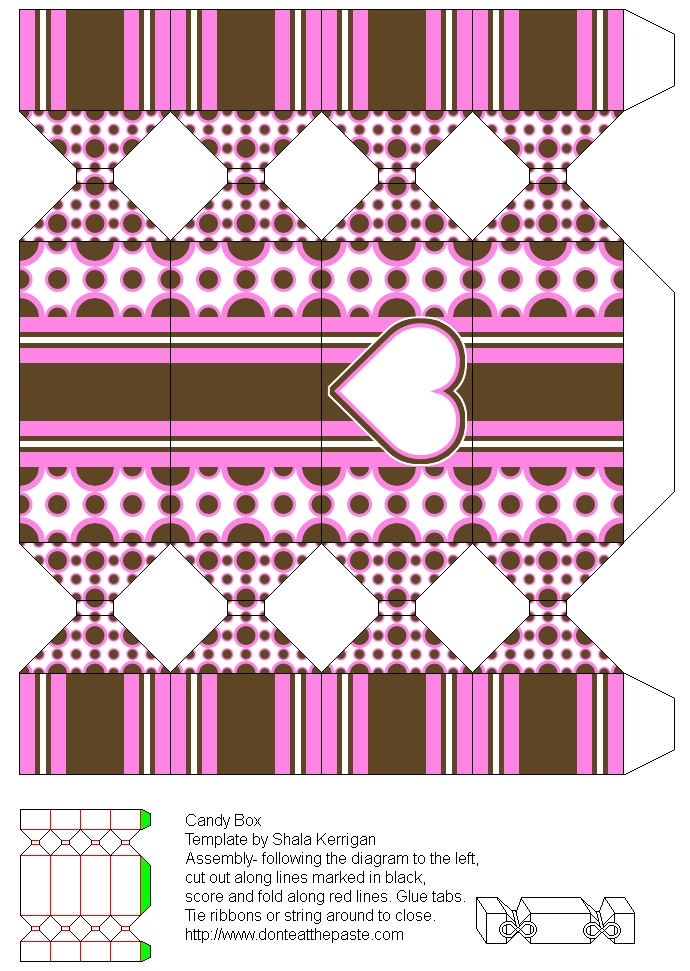 Wedding Gift Box Pattern : teens and parents, Free Box Templates to print for gift box, wedding ...
