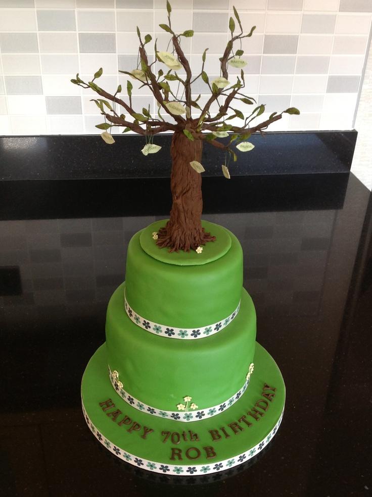 Cake Decoration Trees : Family tree cake Inspiration gateau Pinterest