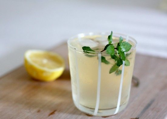 Lemon, Ginger & Mint Infused Drink - yum!