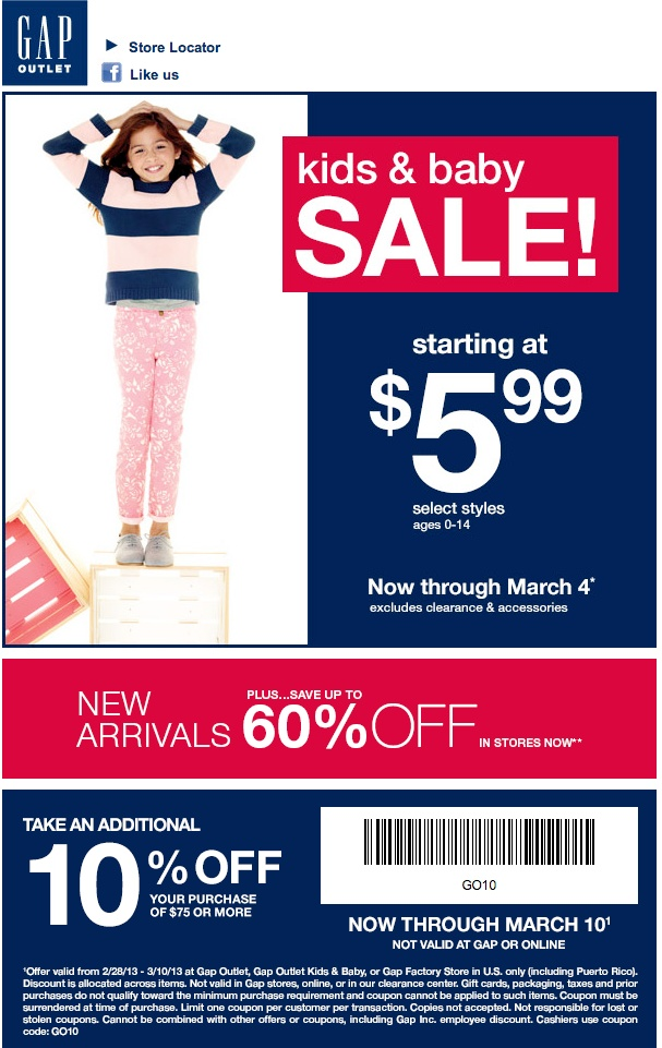 Gap factory outlet canada coupon 2018