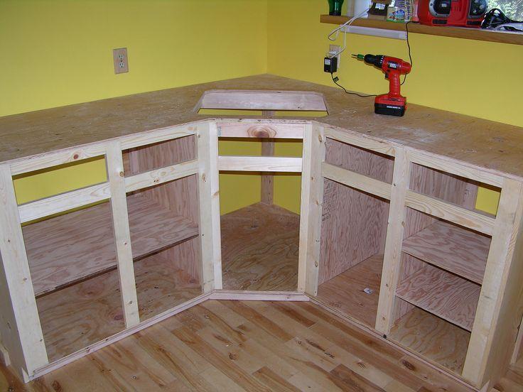 How To Build Kitchen Cabinet Frame DIY Pinterest