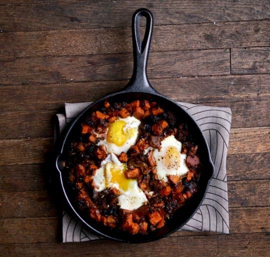 Sweet potato hash with sausage and egg | Yummy Recipes | Pinterest