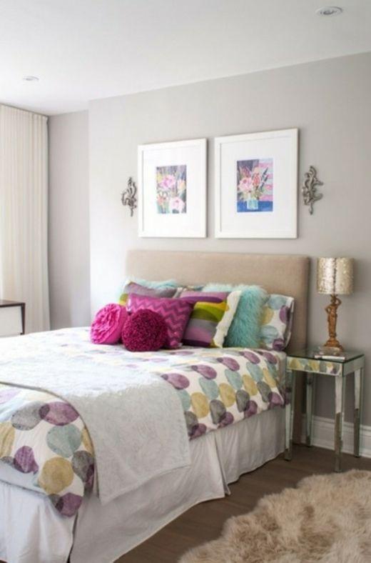 chambre f minine et color e chambres pinterest. Black Bedroom Furniture Sets. Home Design Ideas