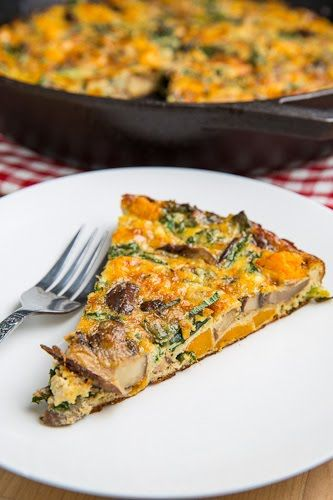 Butternut Squash, Mushroom, Kale and Sausage Frittata | Recipe