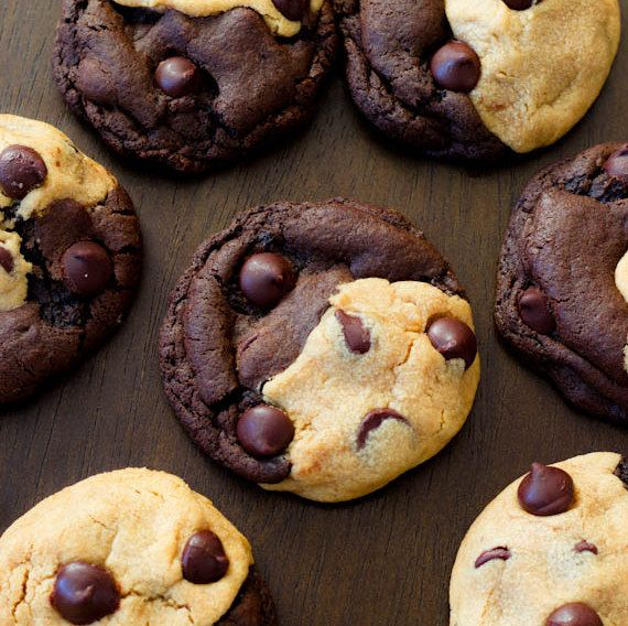 Peanut butter chocolate swirl cookies - lots of cookie recipes