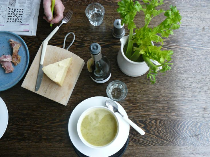 ... pureed celery root soup with caramelized apples celery root soup with