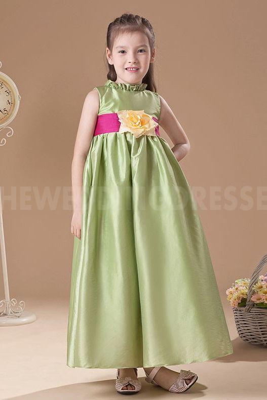 price flower girl dresses green