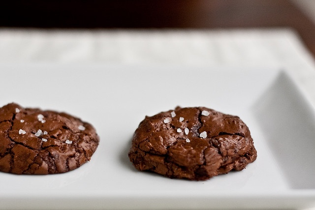 salted chocolate-chocolate chunk cookies | foods/recipes | Pinterest