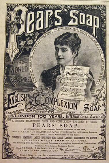 1885 Pears Soap Ad ~ Adelina Patti