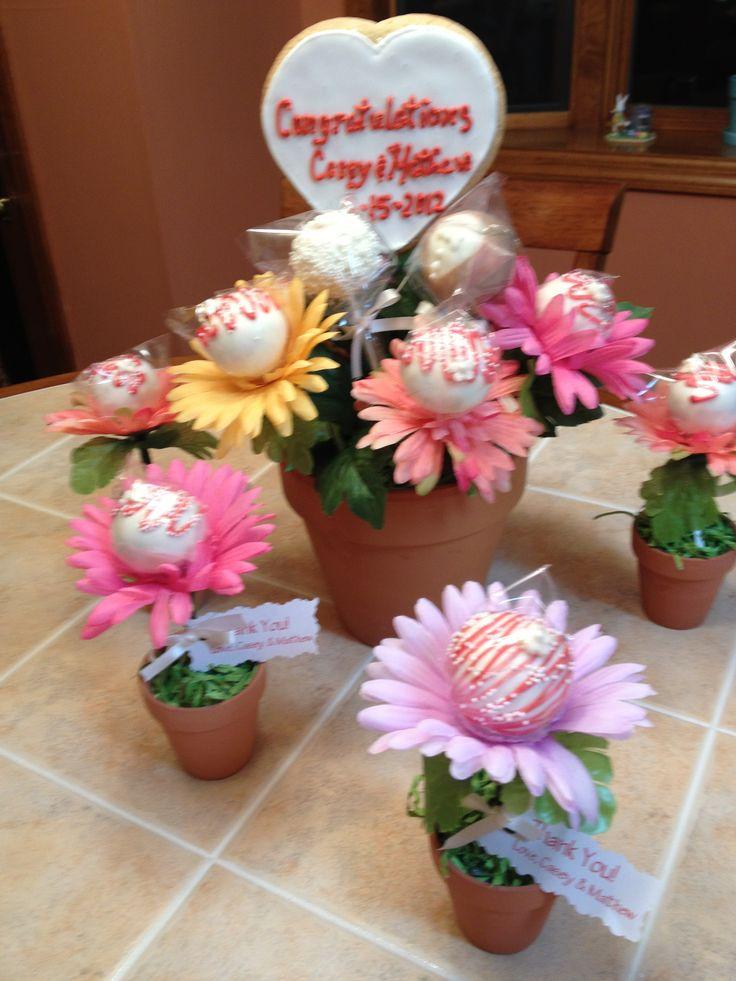 Bridal shower cake pops Cakes & Cupcakes Pinterest