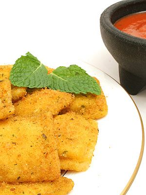 toasted ravioli for toddles   Recipes   Pinterest