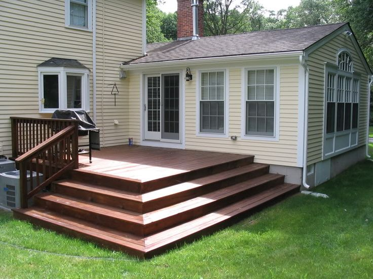 deck stairs new house outdoor spaces pinterest