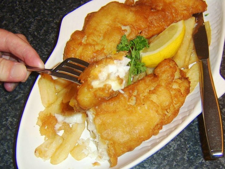 beer battered fish and chips. | yummy foods | Pinterest