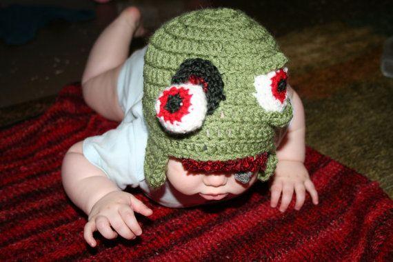 Crochet Zombie : Crochet Zombie Hat Pattern sizes newborn through by FreaksInYarn https ...