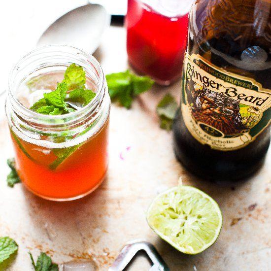 Rhubarb Gingerbeer Cocktail | recipes | Pinterest